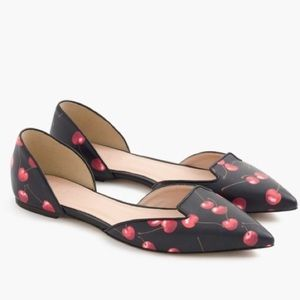 New j crew cherry Sadie loafer flat black red 7.5